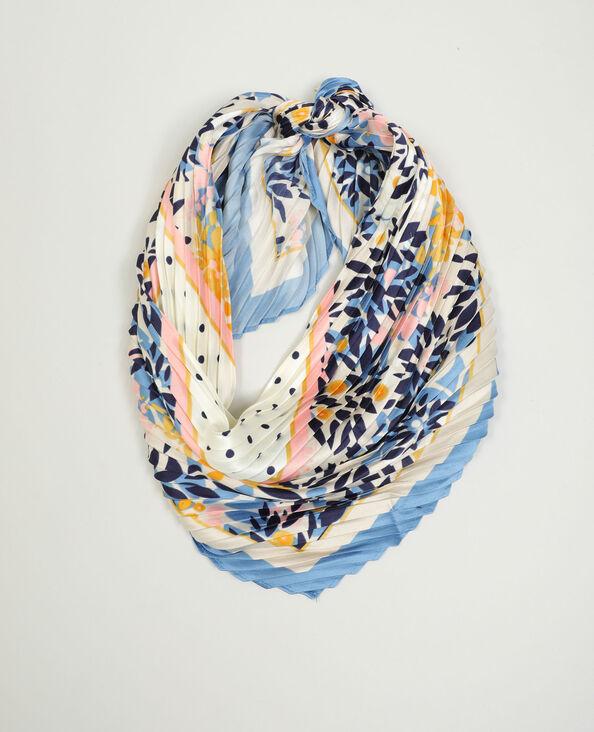 Sjaal met bloemenprint blauw - Pimkie