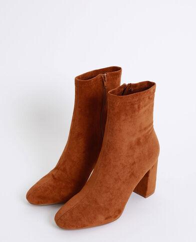 Laarzen van suedine kastanjebruin