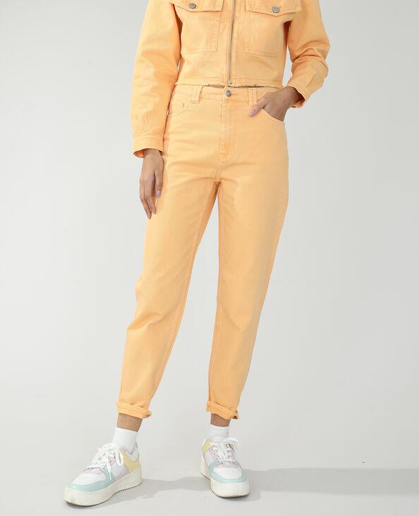 Momjeans met hoge taille oranje - Pimkie