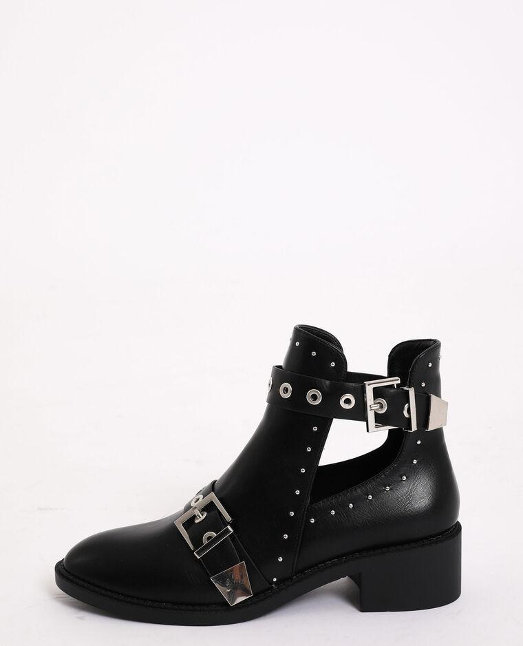 Boots plates entrouvertes noir