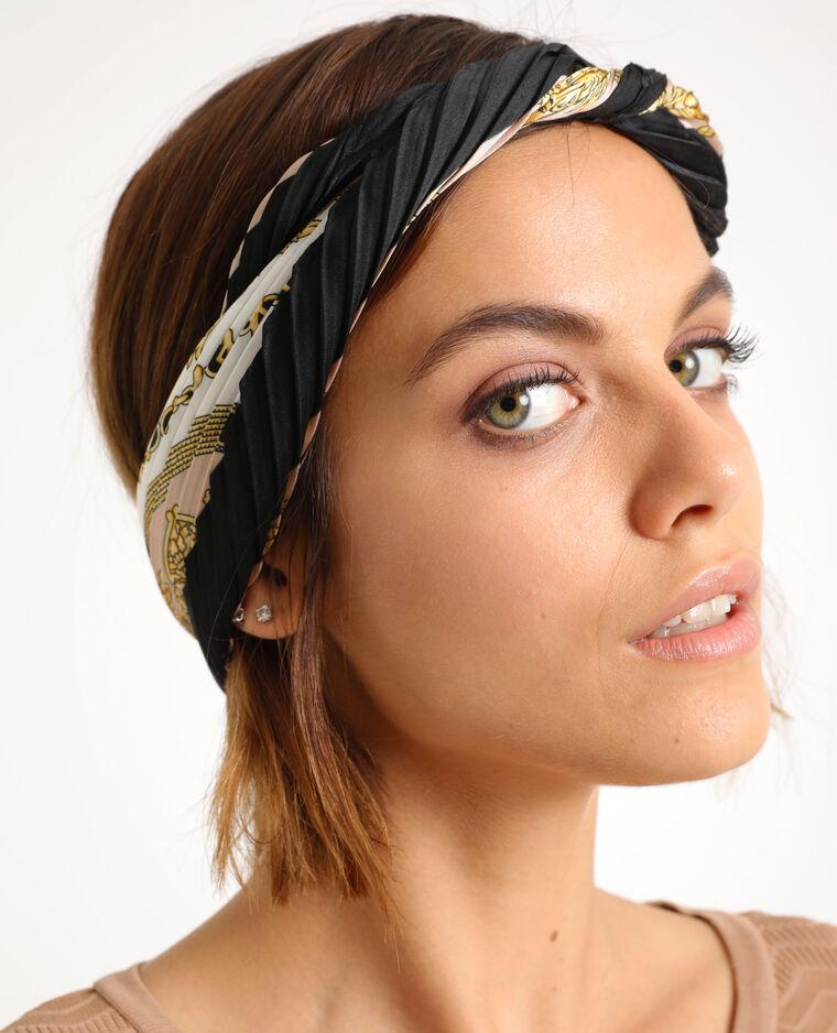 Geplooide foulard wit