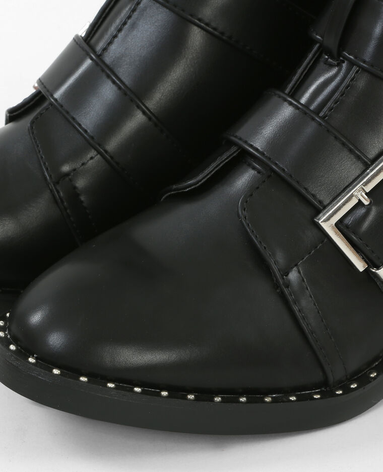 Bottines multi straps noir