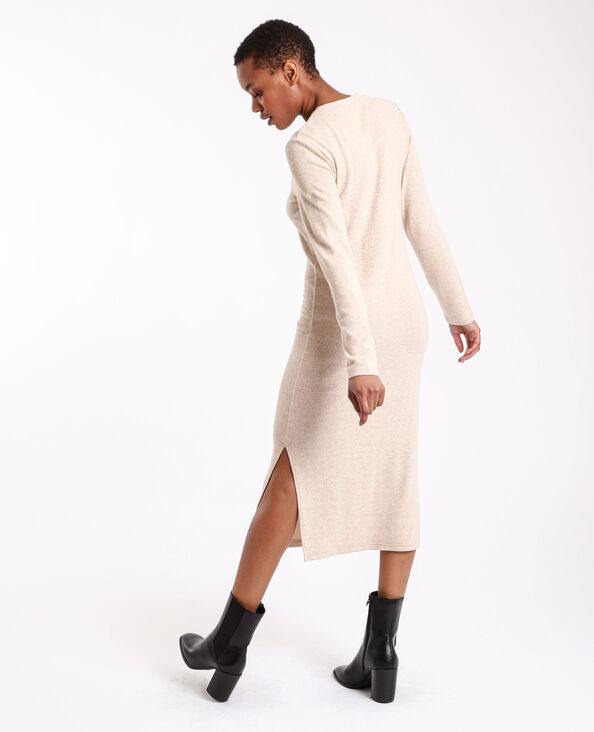 Lange jurk beige