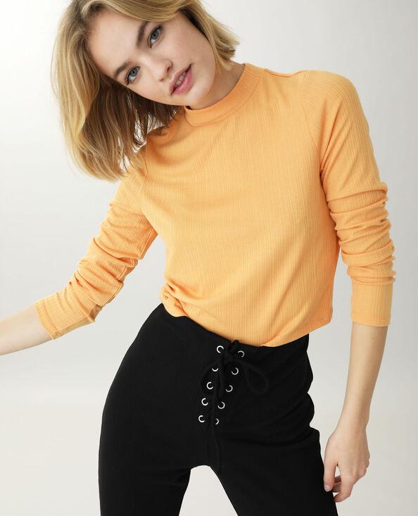 Shirt met opstaande kraag oranje