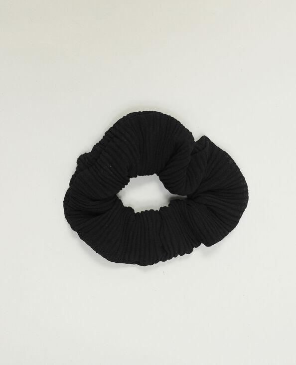 Gefronste scrunchie zwart - Pimkie