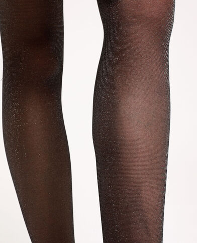 Collants brillants gris