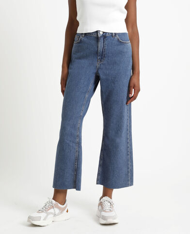 Jean jambes larges bleu denim