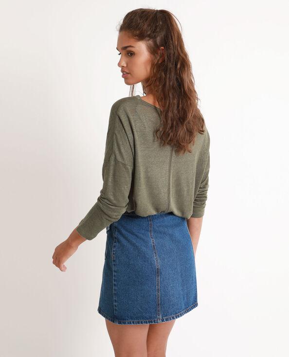 T-shirt en lin vert