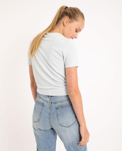 Zacht T-shirt hemelsblauw - Pimkie