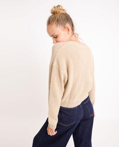 Basic trui beige