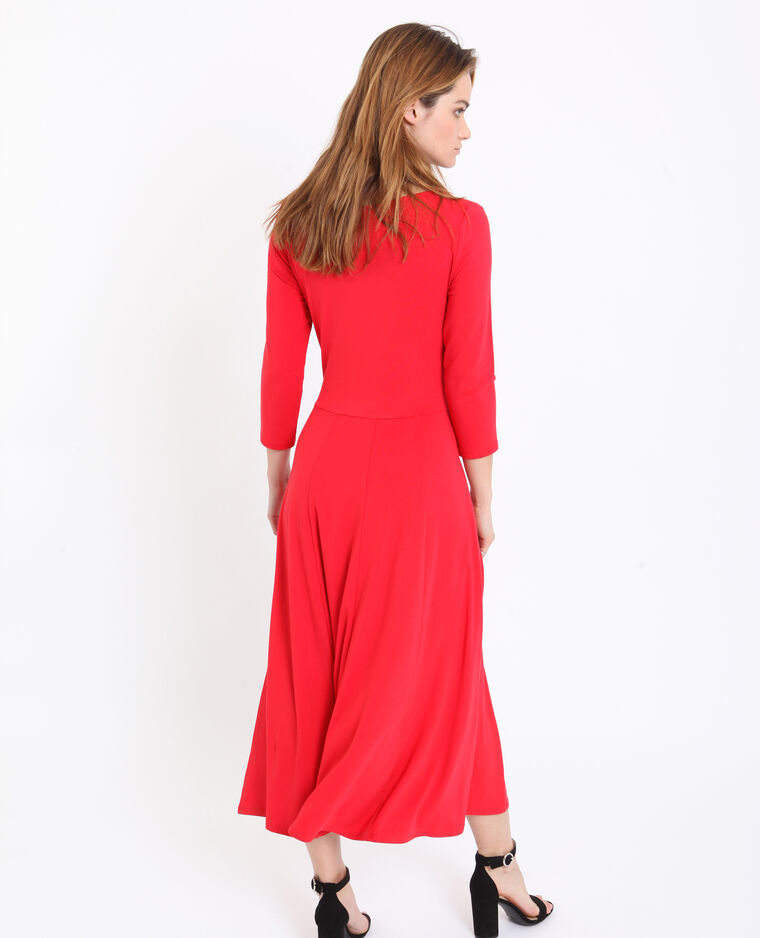 Robe longue orange