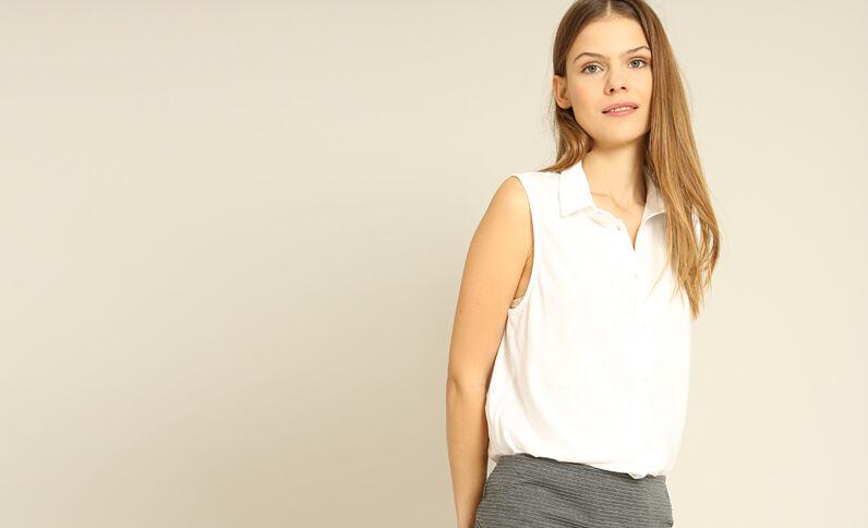 Chemise sans manches blanc