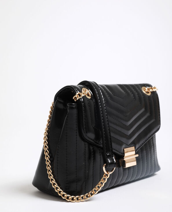 Kleine gewatteerde tas zwart