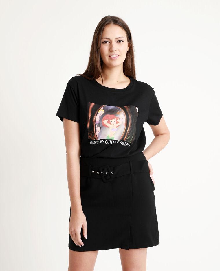 T-shirt La petite sirène noir