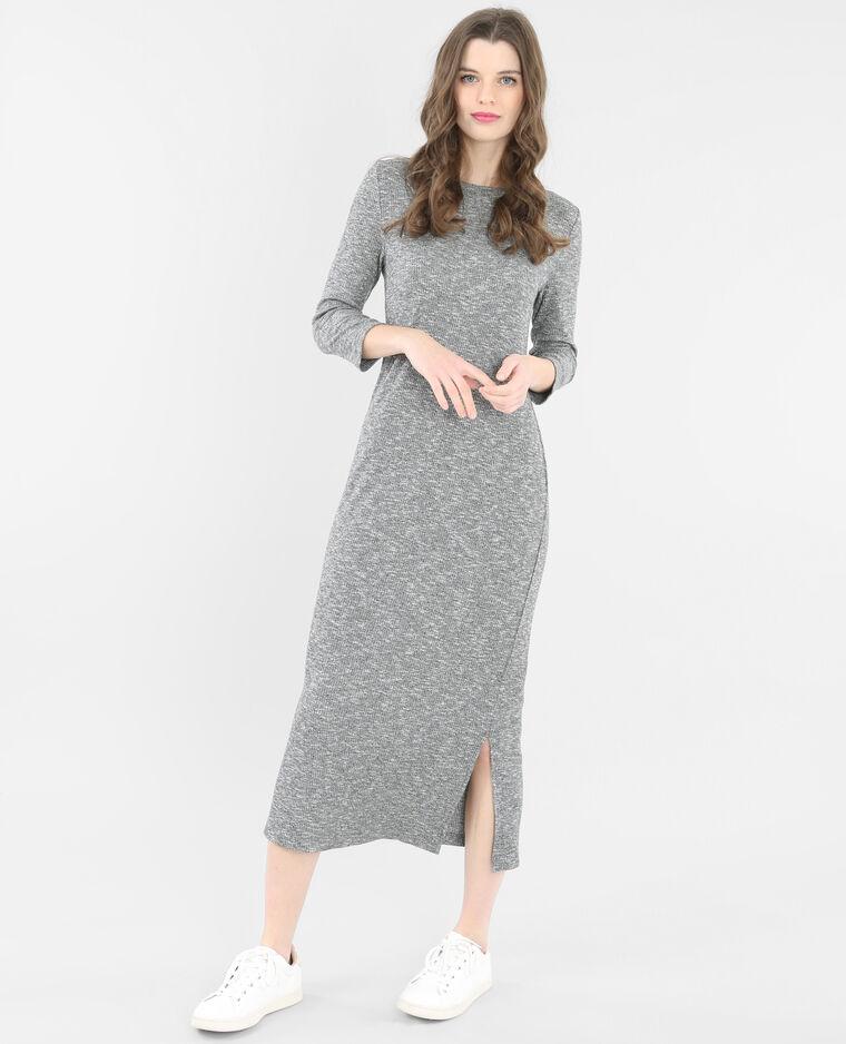 Robe longue côtelée gris chiné - 781172830J08   Pimkie 1d09ebe1d5e5