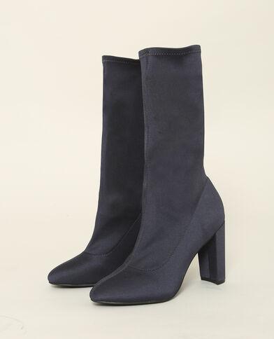 Laarzen van elastisch textiel blauw
