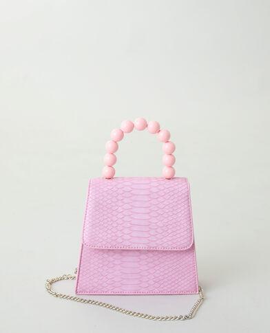Handtas met kralen roze