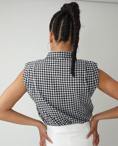 Hemd met epauletten zwart - Pimkie