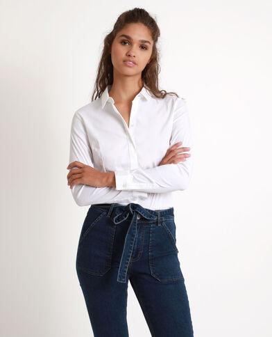 Getailleerd hemd wit