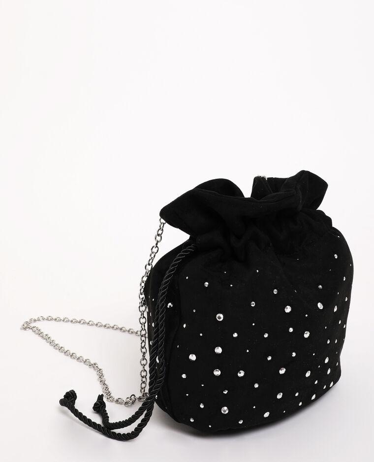 Boxy-tasje van suèdine zwart