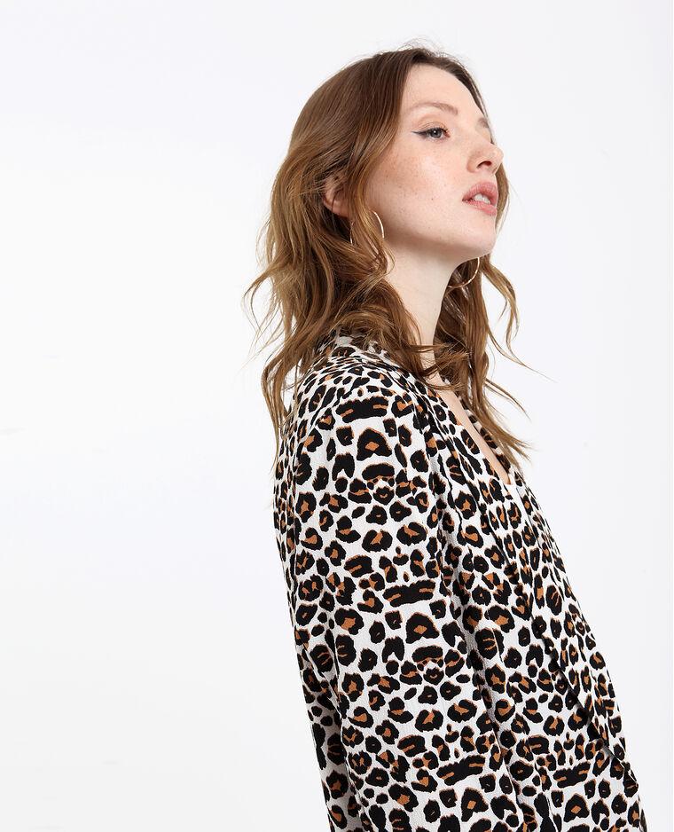 Blazer léopard écru