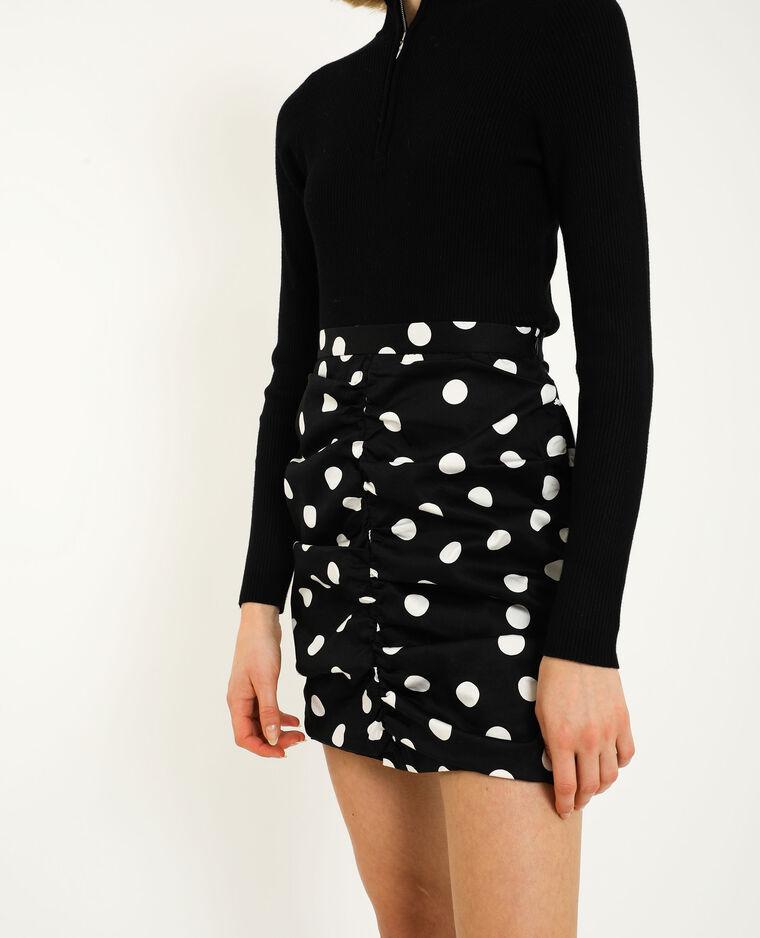 Gefronste rok zwart