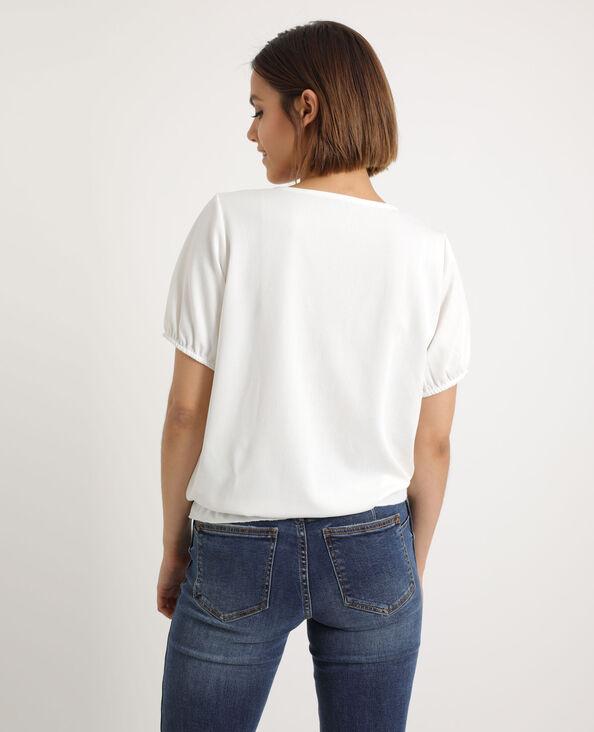 Top à manches courtes blanc