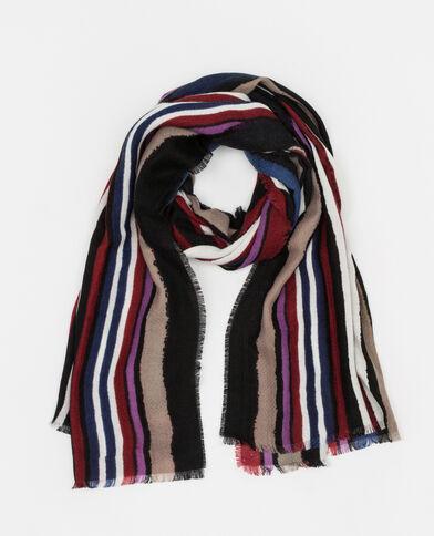 Gestreepte sjaal bordeauxrood