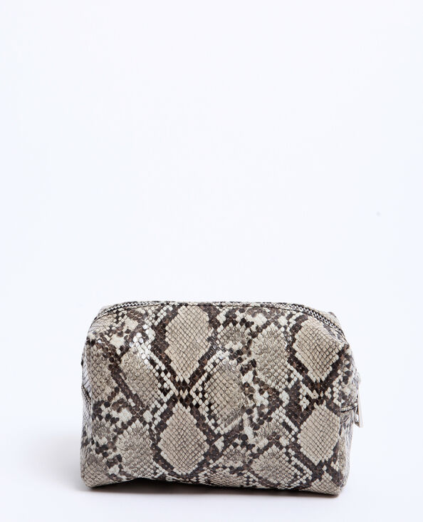 Make-uptasje met pythonprint beige