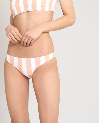 Bikinislip met strepen wit