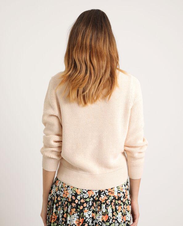 Pull basique beige