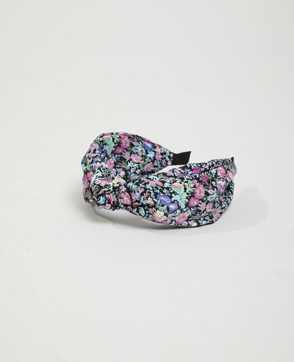 Haarband met bloemen zwart - Pimkie