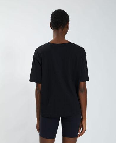 Oversized T-shirt met tijgerprint zwart - Pimkie