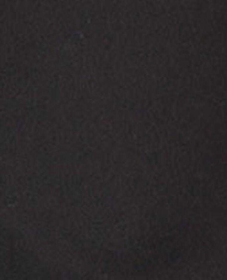 Chemise bi-matière noir