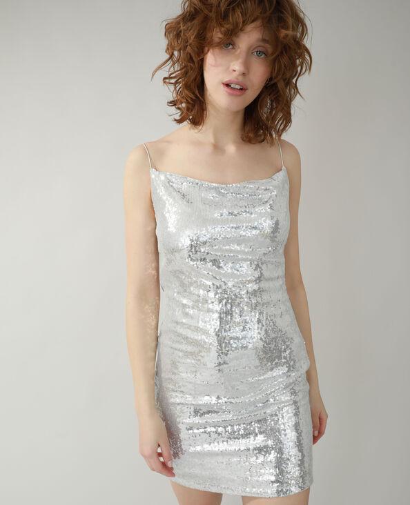 Robes à sequins gris - Pimkie
