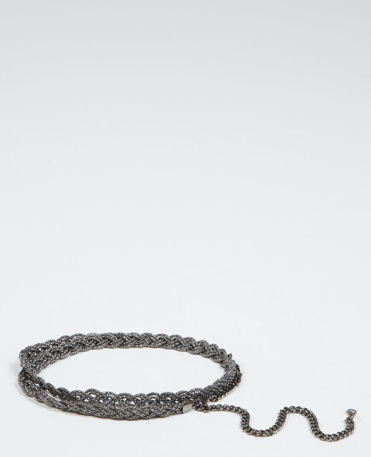 fad9003b114 Ceinture bijoux tressée gris anthracite - 976062824A08