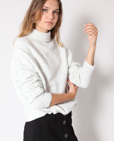 Warme trui gemêleerd grijs