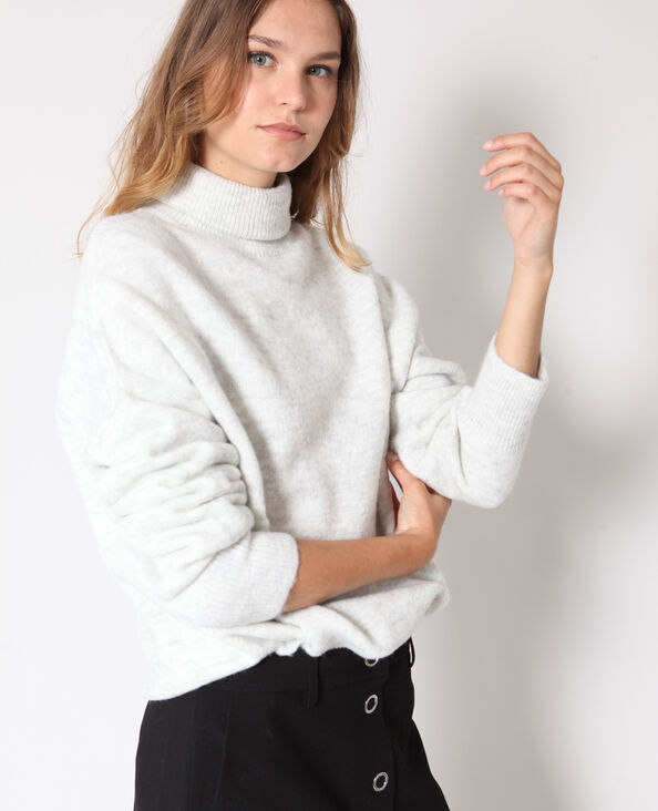 Pull chaud gris chiné