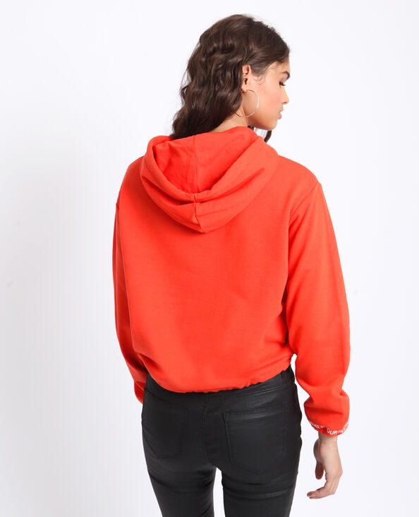 Sweat à capuche rouge