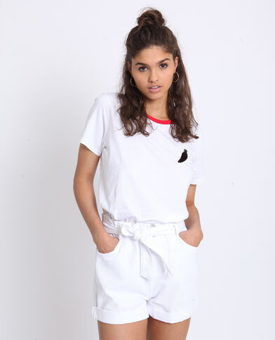 Tweekleurig T-shirt wit