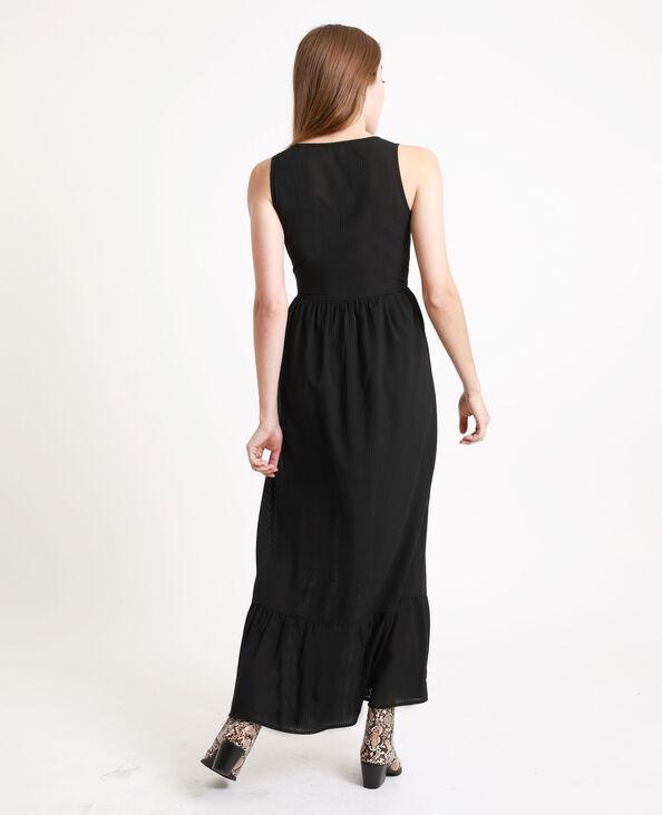 Lange jurk met knopen zwart