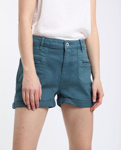 Klassieke short met omslag groen