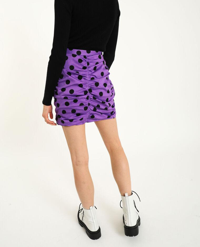 Gefronste rok violet