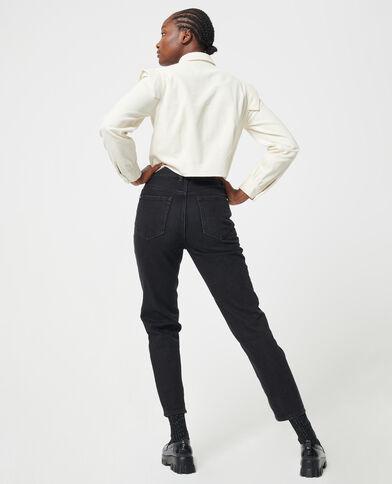 Jeans met hoge taille zwart - Pimkie