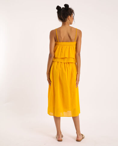 Robe à volants jaune