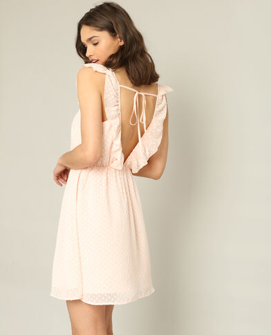 Robe en plumetis rose