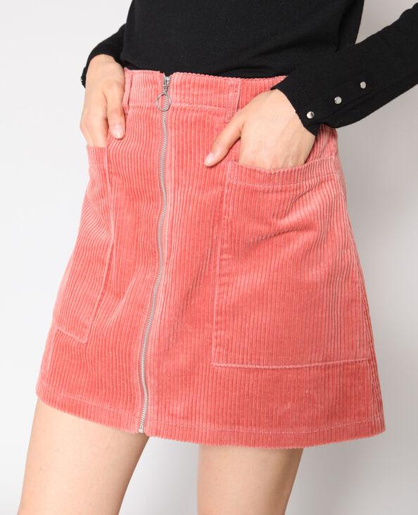 Fluwelen rok oud roze