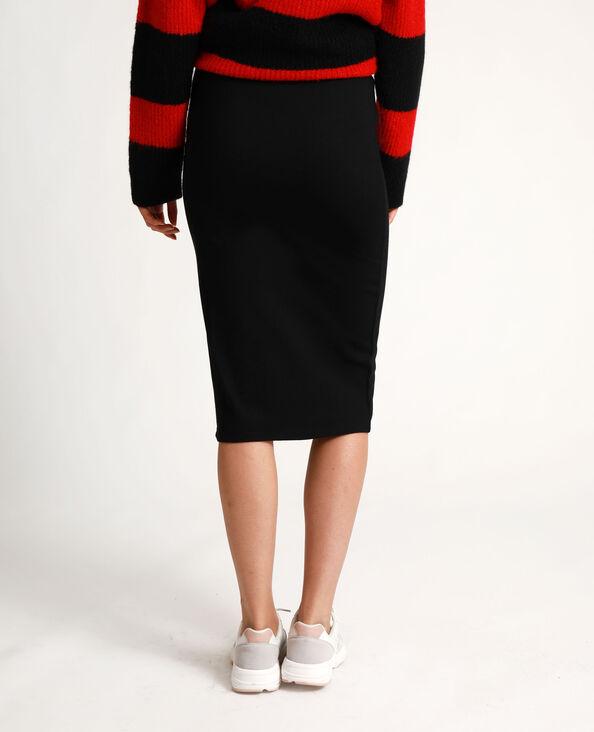 Halflange rok zwart