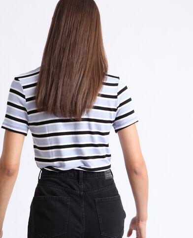 Gestreept T-shirt zwart