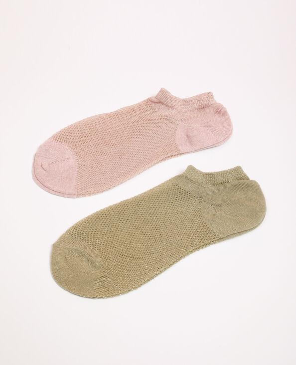 Lot de 2 paires de chaussettes vert
